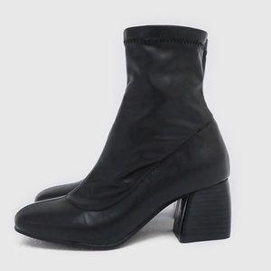 "CHUU ""Sometimes Sad"" Sock Boots"
